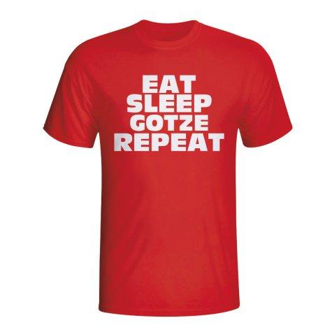 Eat Sleep Gotze Repeat T-shirt (red)