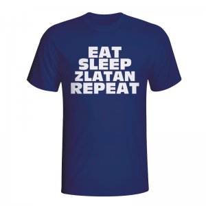 Eat Sleep Zlatan Repeat T-shirt (navy)