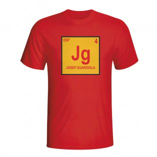 Josep Guardiola Spain Periodic Table T-shirt (red)