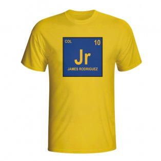 James Rodriguez Colombia Periodic Table T-shirt (yellow)