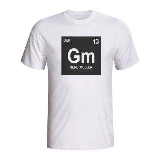 Gerd Muller Germany Periodic Table T-shirt (white) - Kids