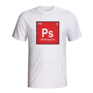 Peter Shilton England Periodic Table T-shirt (white)