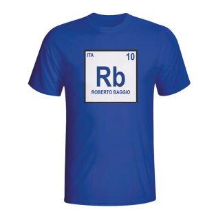Roberto Baggio Italy Periodic Table T-shirt (blue) - Kids