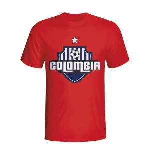 Colombia Country Logo T-shirt (red) - Kids