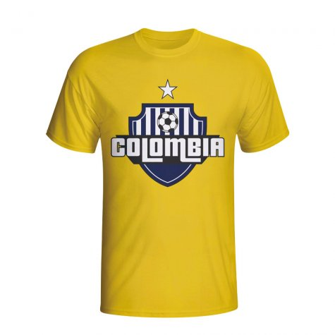 Colombia Country Logo T-shirt (yellow)