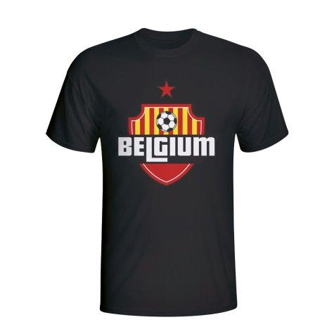 Belgium Country Logo T-shirt (black) - Kids