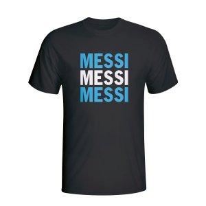 Lionel Messi Argentina Player Flag T-shirt (black)