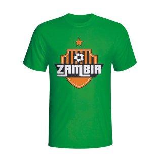 Zambia Country Logo T-shirt (green) - Kids