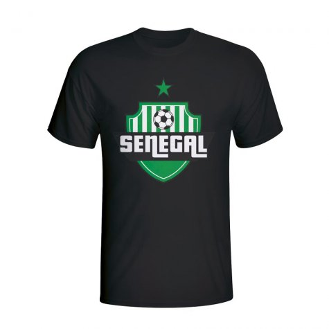 Senegal Country Logo T-shirt (black) - Kids
