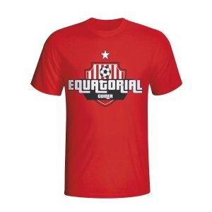 Equatorial Guinea Country Logo T-shirt (red) - Kids