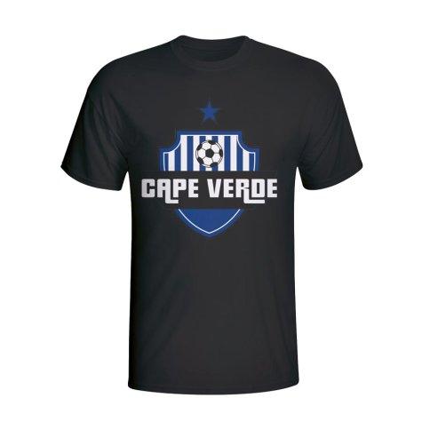 Cape Verde Country Logo T-shirt (black) - Kids