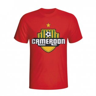 Cameroon Country Logo T-shirt (red) - Kids