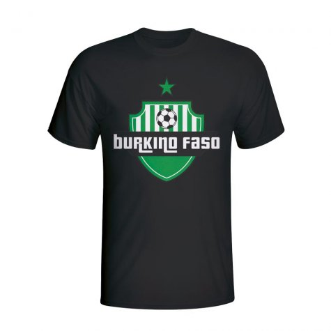 Burkino Faso Country Logo T-shirt (black) - Kids