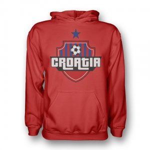 Croatia Country Logo Hoody (red)