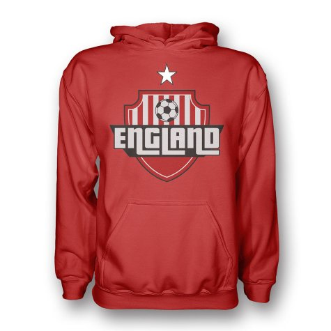 England Country Logo Hoody (red)