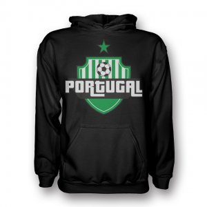 Portugal Country Logo Hoody (black) - Kids