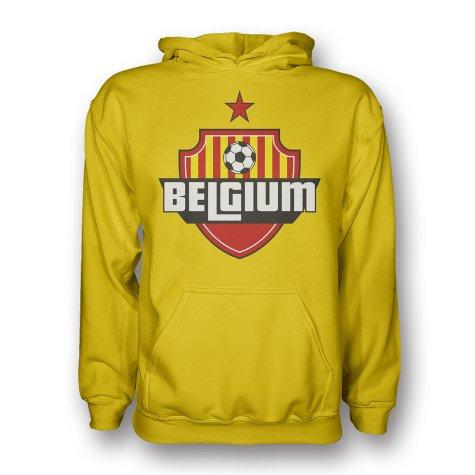 Belgium Country Logo Hoody (yellow) - Kids