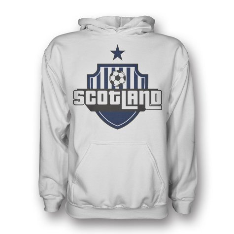 Scotland Country Logo Hoody (white) - Kids