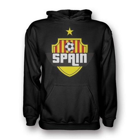 Spain Country Logo Hoody (black) - Kids