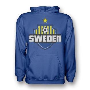 Sweden Country Logo Hoody (blue) - Kids