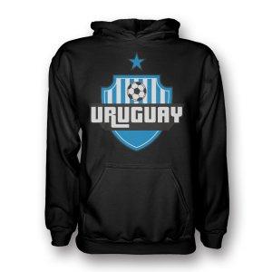 Uruguay Country Logo Hoody (black) - Kids