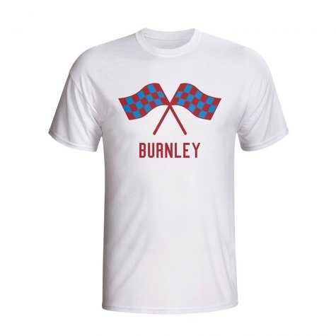 Burnley Waving Flags T-shirt (white) - Kids