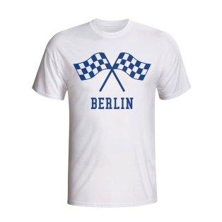 Hertha Berlin Waving Flags T-shirt (white)