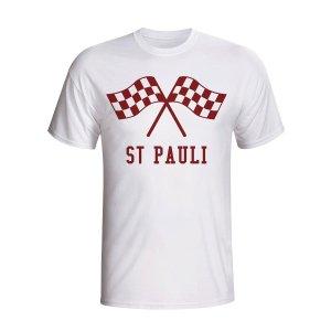 St Pauli Waving Flags T-shirt (white)
