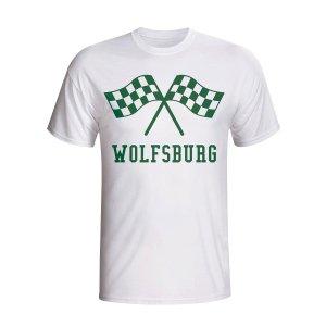 Vfl Wolfsburg Waving Flags T-shirt (white) - Kids