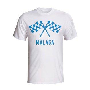 Malaga Waving Flags T-shirt (white)