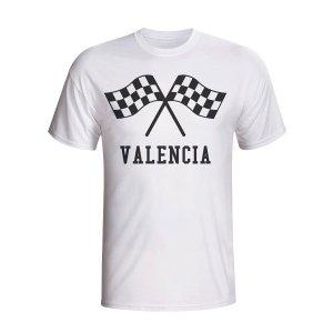 Valencia Waving Flags T-shirt (white) - Kids