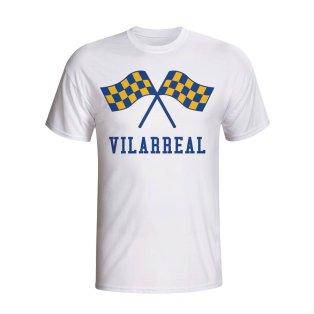 Villarreal Waving Flags T-shirt (white)