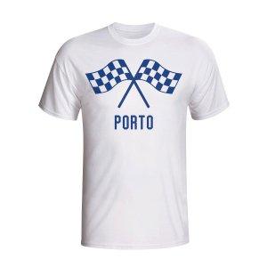 Porto Waving Flags T-shirt (white)