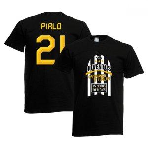 2012 Juventus Champions T-Shirt (Black) - Pirlo 21