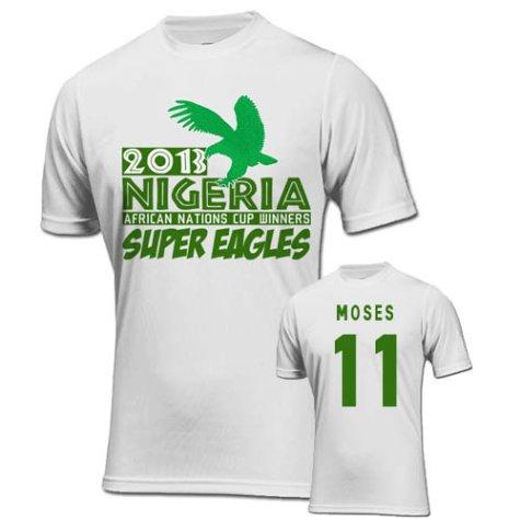 2013 Nigeria CAF Winners T-Shirt (White) - Moses 11