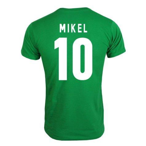 2013 Nigeria CAF Winners T-Shirt (Green) - Mikel 10