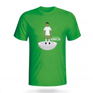 Cristiano Ronaldo Real Madrid Subbuteo Tee (green) - Kids