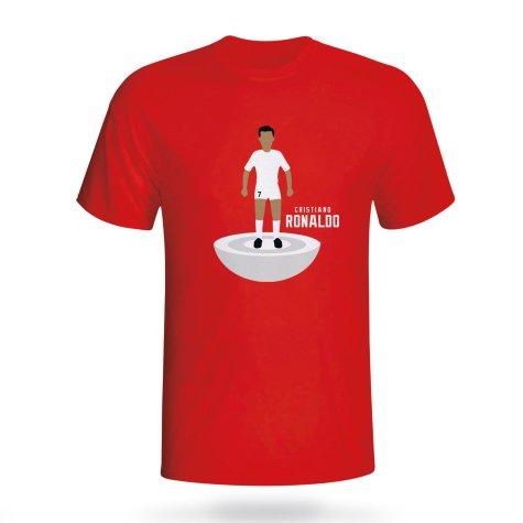 Cristiano Ronaldo Real Madrid Subbuteo Tee (red)