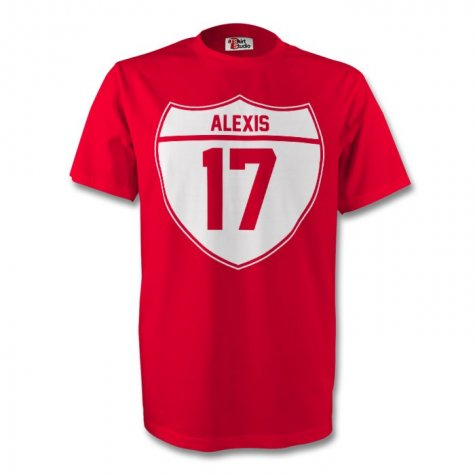 Alexis Sanchez Arsenal Crest Tee (red) - Kids
