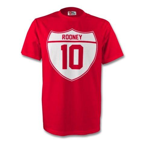 Wayne Rooney Man Utd Crest Tee (red) - Kids