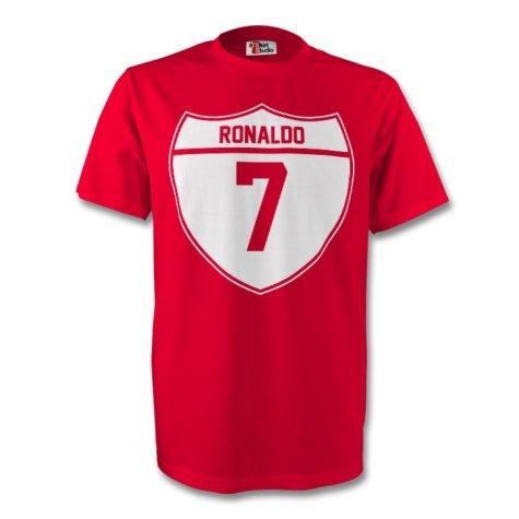Cristiano Ronaldo Man Utd Crest Tee (red) - Kids