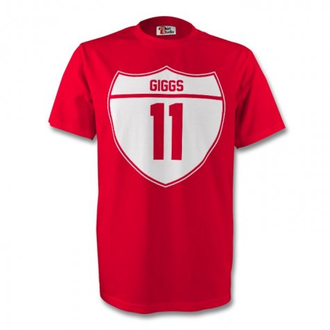 Ryan Giggs Man Utd Crest Tee (red) - Kids