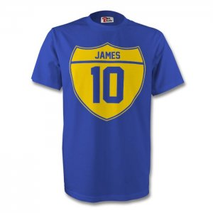James Rodriguez Colombia Crest Tee (blue)