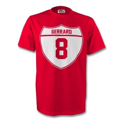 Steven Gerrard Liverpool Crest Tee (red) - Kids