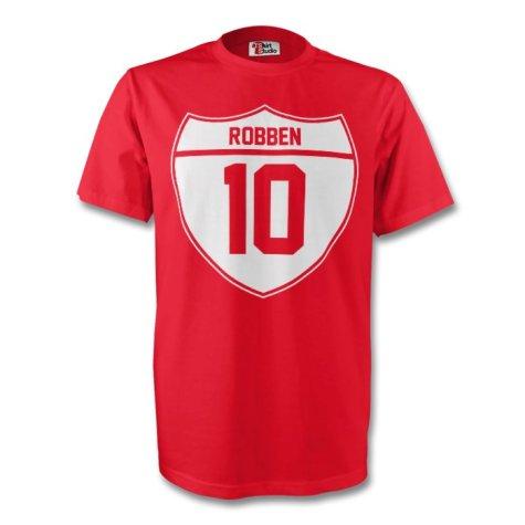 Arjen Robben Bayern Munich Crest Tee (red) - Kids