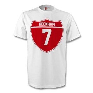 David Beckham England Crest Tee (white)