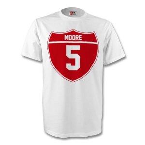 Bobby Moore England Crest Tee (white)