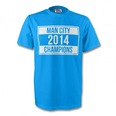 Manchester City 2014 Champions Tee (sky Blue) - Kids