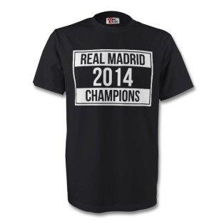Real Madrid 2014 Champions Tee (black) - Kids