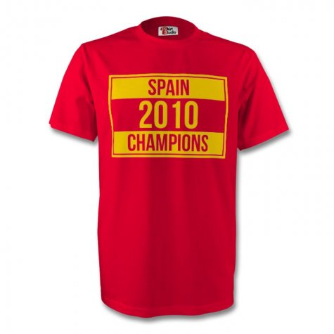Spain 2010 Champions Tee (red)